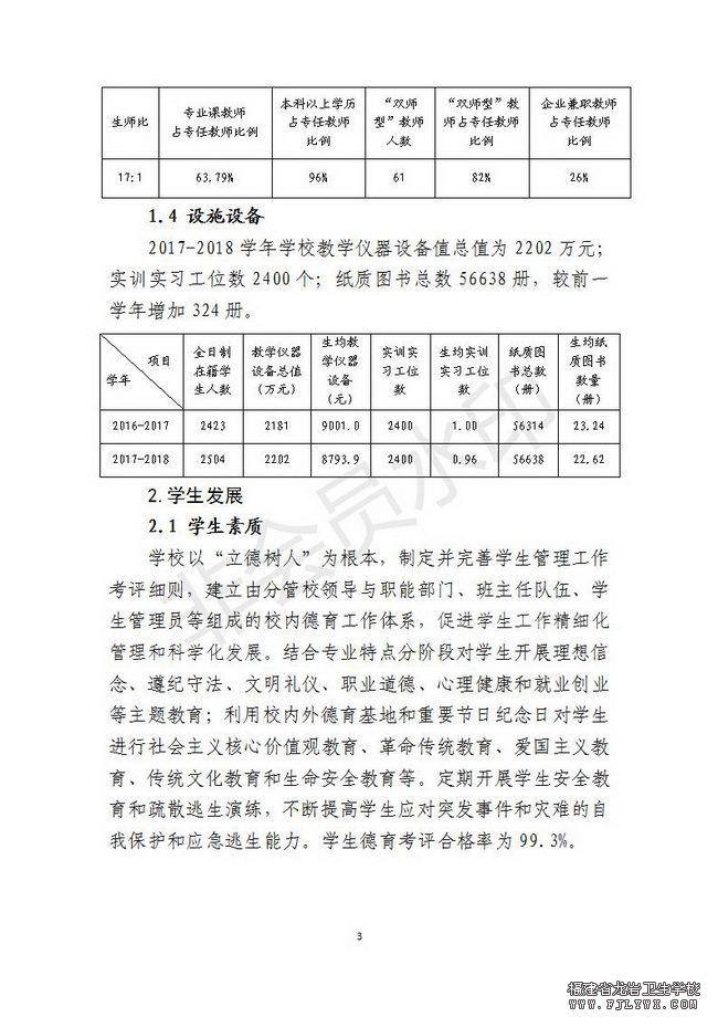 福建省龙岩卫生学校教育质量年度报告(2018年度)_03.jpg